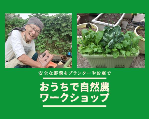 【嵐山】 3月26日(金) \安全な野菜をプランターやお庭で/おうちで自然農ワークショップ